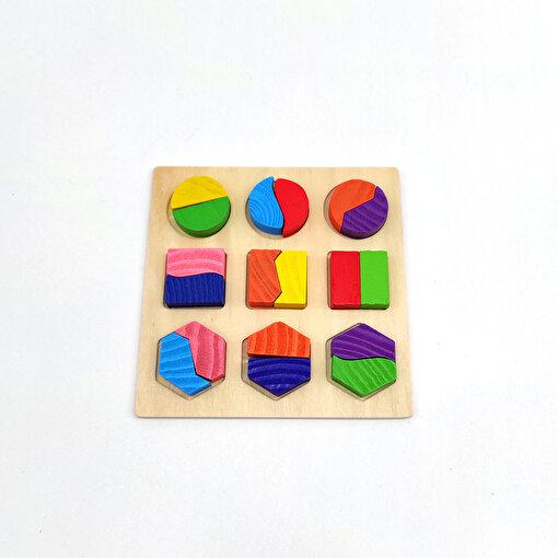 Keep London Kids Ahşap 18 Parça Orta Boy El-Göz-Koordinasyon Eğitici Geometrik Şekiller. ürün görseli