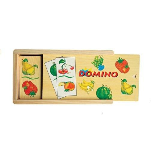 Keep London Kids Ahşap Kutulu Eğitici Meyveler Zeka Geliştirici Domino Oyunu. ürün görseli