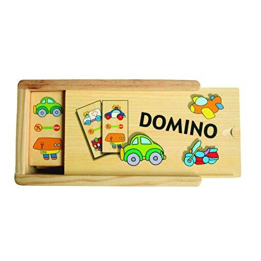 Keep London Kids Ahşap Kutulu Eğitici Taşıtlar Zeka Geliştirici Domino Oyunu. ürün görseli