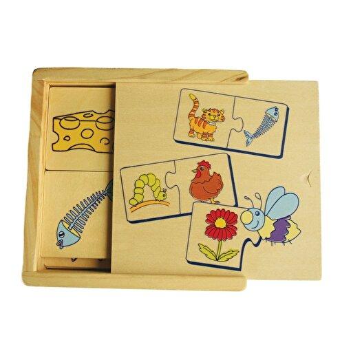 Keep London Kids Ahşap Kutulu Eğitici Hangi Hayvan Ne Yer Zeka Geliştirici Eşleştirme Oyunu. ürün görseli