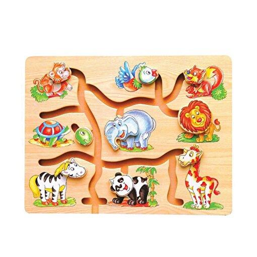 Keep London Kids Ahşap Kutulu Eğitici Hayvanlar Yol Bulma Koordinasyon Ve Odaklanma Oyunu. ürün görseli