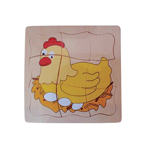 Keep London Kids Ahşap Eğitici Tavuk Puzzle. ürün görseli