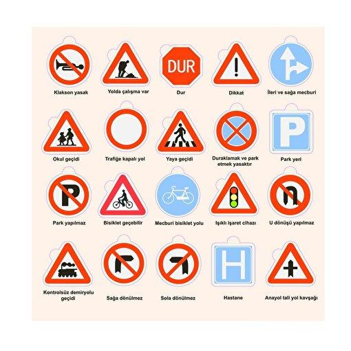 Keep London Kids Ahşap Eğitici Trafik İşaretleri Öğrenme Puzzle. ürün görseli