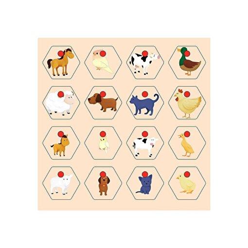 Keep London Kids Ahşap Eğitici Hayvanlar ve Yavruları Eşleştirme Puzzle. ürün görseli