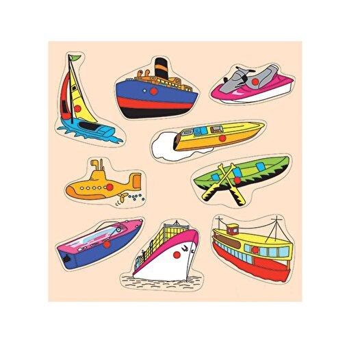 Keep London Kids Ahşap Eğitici Deniz Taşıtları Puzzle. ürün görseli