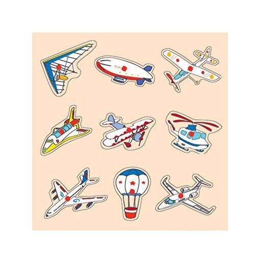 Keep London Kids Ahşap Eğitici Hava Taşıtları Puzzle. ürün görseli