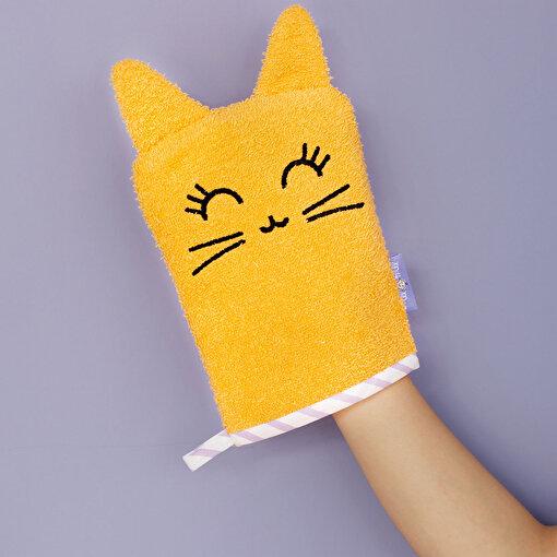 Milk&Moo Çocuk Banyo Kesesi Tombiş Kedi . ürün görseli