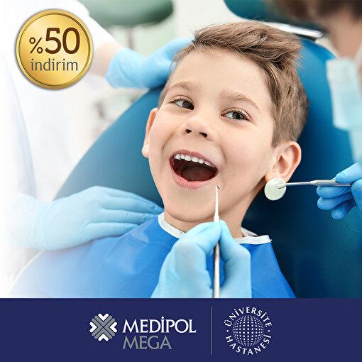 Medipol Mega Diş Hastanesi Çocuk Diş Muayenesi'nde %50 İndirim Kuponu. ürün görseli