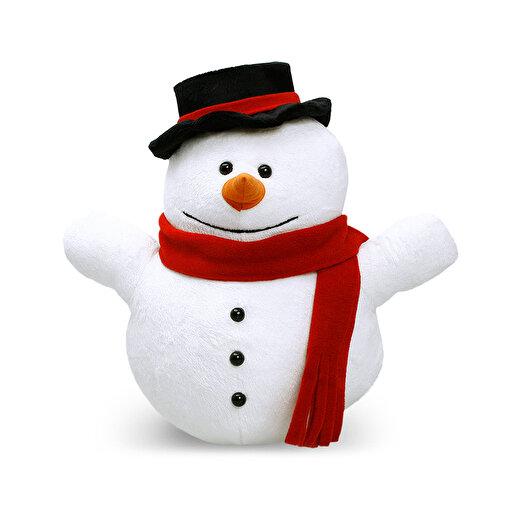 Neco Kırmızı Atkılı Kardan Adam Peluş Oyuncak 30 Cm. ürün görseli