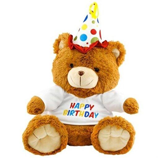 Neco Plush Oturan Happy Birthday Peluş Ayı 40 cm. ürün görseli