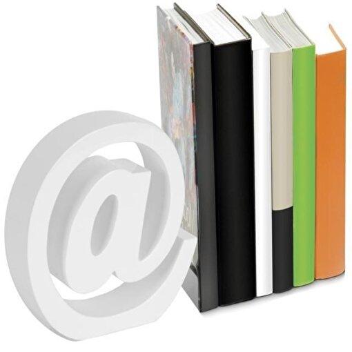 Nektar 24561 Kitap Tutucu Ahşap Beyaz. ürün görseli