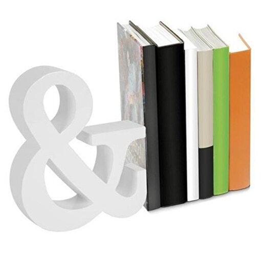 Nektar 24562 Kitap Tutucu Ahşap Beyaz. ürün görseli