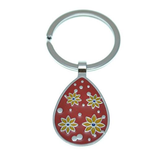 Nektar J03602 Çiçekli Damla Anahtarlık Kırmızı. ürün görseli