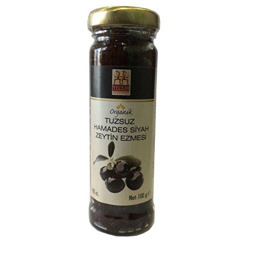 Yerlim Organik Hamades Siyah Zeytin Ezmesi - Tuzsuz ( 175 gr ). ürün görseli