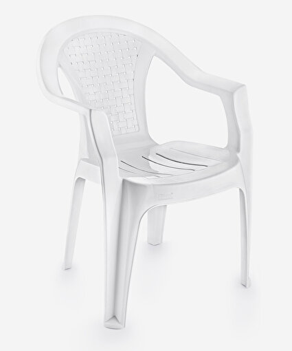 Kollu Plastik Sandalye Bahçe Balkon Sandalyesi. ürün görseli