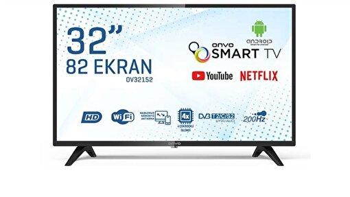 Onvo 32'' Hd Ready Android Smart FramelessLed TV. ürün görseli