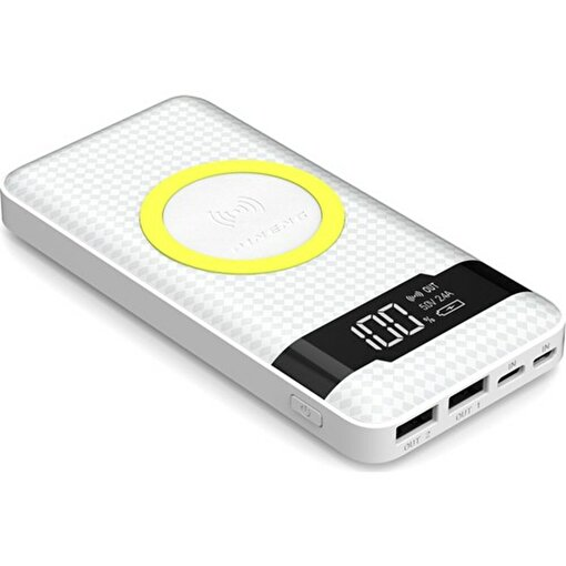 Pineng PN-886 10000 mAh Kablosuz Taşınabilir Beyaz. ürün görseli