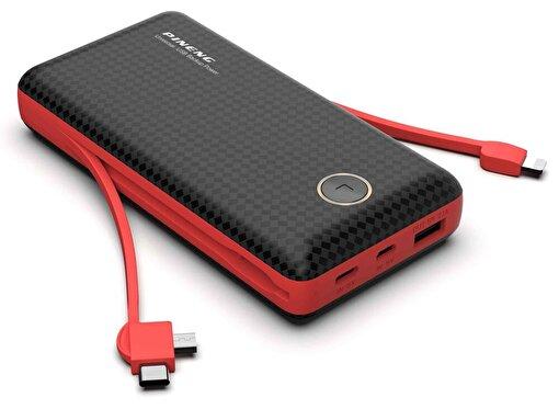Pineng PN-959 20000mAh Powerbank Kırmızı Siyah. ürün görseli