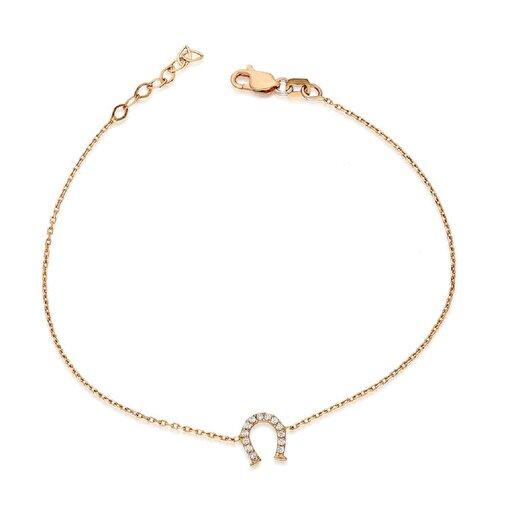 Pink Gold Store Şans Nalı 14 Ayar Altın Bileklik. ürün görseli