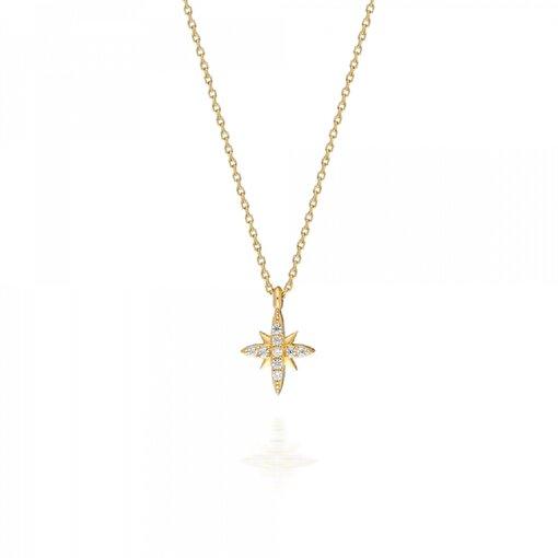 Pink Gold Store Kuzey Yıldızı Işığı Kolye. ürün görseli