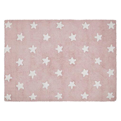 Lorena Canals  Stars Pembe Beyaz Çocuk Halısı 120x160cm. ürün görseli