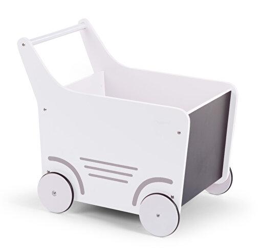 Childhome Ahşap Oyuncak Araba Beyaz. ürün görseli