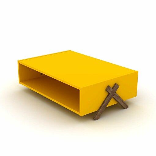 Rafevi Kipp Orta Sehpa Ceviz-Sarı. ürün görseli