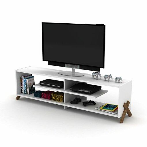 Rafevi Kipp TV Ünitesi Ceviz-Beyaz. ürün görseli
