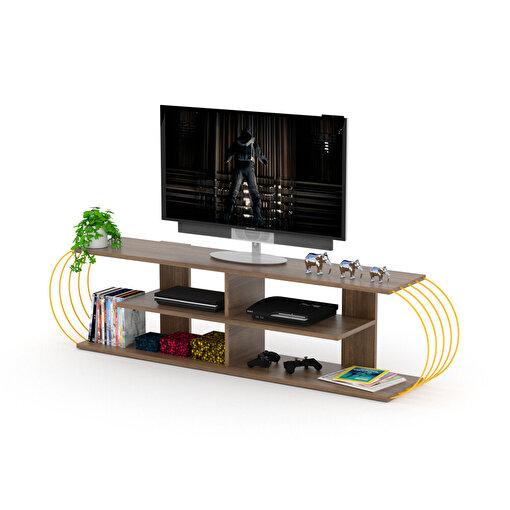 Rafevi Case TV Ünitesi Ceviz-Sarı. ürün görseli