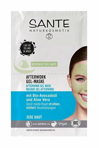 Sante Yorgunluk giderici Organik Jel Maske Organik Avokado Yağı Ve Aloe Vera - 2X4 ml Saşe. ürün görseli