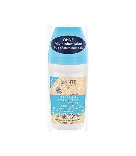 Sante Organik Deo Roll-On- Aşırı Hassas Ciltler İçin - Organik Aloe Vera & Adaçayı Özlü 50 ml . ürün görseli