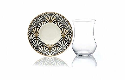 Sandro Moreno Altın Dokunuş Koleksiyonu Neo Art Deco 6' Lı Çay Fincan Seti. ürün görseli