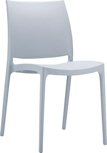 Siesta Maya Sandalye Gümüş Gri. ürün görseli