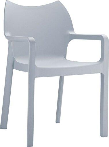 Siesta Diva Sandalye Gümüş Gri. ürün görseli