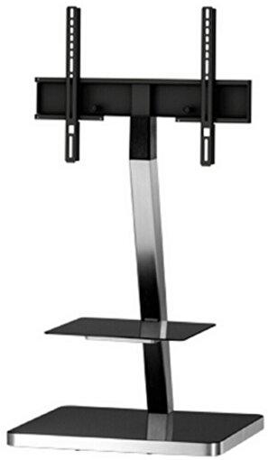 Sonorous PL 2710-Blk-Slv Gri Alüminyum, Siyah Taban Tv Sehpası. ürün görseli