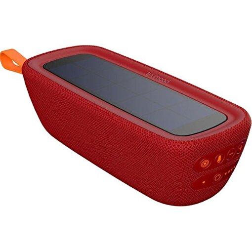 Tune S1- Güneş Enerjili Bluetooth Hoparlör Kırmızı. ürün görseli