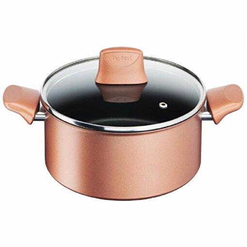 Tefal Titanium Chef Caramelle Derin Tencere 20 cm. ürün görseli