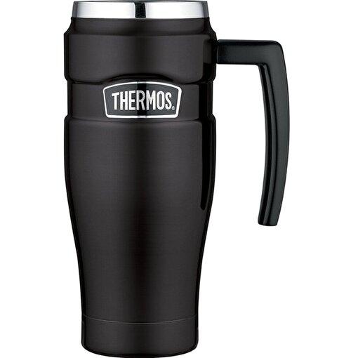 Thermos SK 1000 Mat Siyah Çelik Mug Termos. ürün görseli