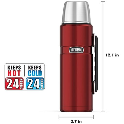 Thermos SK 2010 Stainless King Large Cranberry 1.2 lt.Termos 140936. ürün görseli