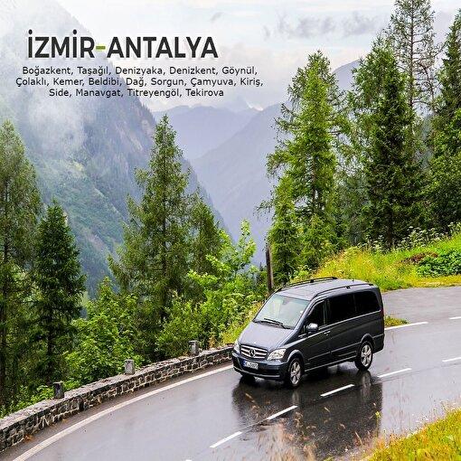 İzmir-Antalya (2. Bölge) Şehirler Arası Transfer Hizmeti. ürün görseli