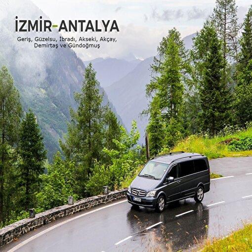 İzmir-Antalya (4. Bölge) Şehirler Arası Transfer Hizmeti. ürün görseli