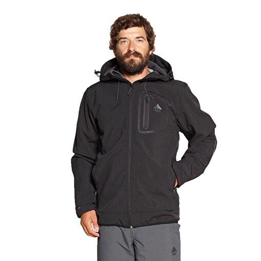 Berg Yukon Erkek Softshell Ceket-SİYAH. ürün görseli