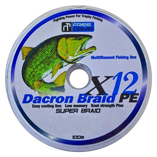 FreeCamp Dakron 12 Braid 100m 0.50mm Olta Misinası. ürün görseli