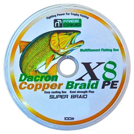 Freecamp Copper 8 Braid 100mt 0.60mm Olta Misinası. ürün görseli