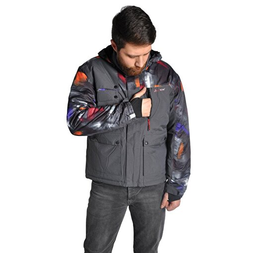 A&C Erkek Kayak Montu-GRİ. ürün görseli