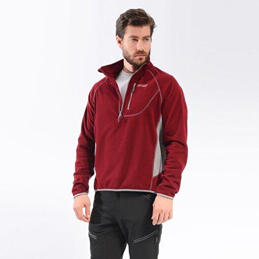 Freecamp Man Half Zipper Fleece-BORDO. ürün görseli