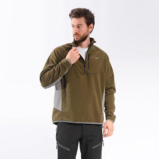 Freecamp Man Half Zipper Fleece-HAKİ. ürün görseli