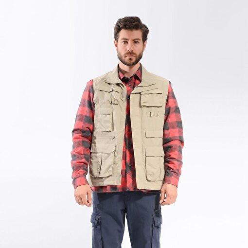 FreeCamp Vest Erkek Avcı Yelek-BEJ. ürün görseli