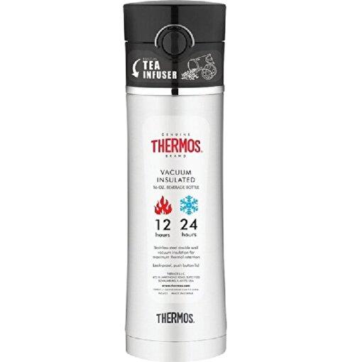 Thermos NS 403 Çay Demleme Aparatlı Mug Termos 470ml. Siyah 126772. ürün görseli