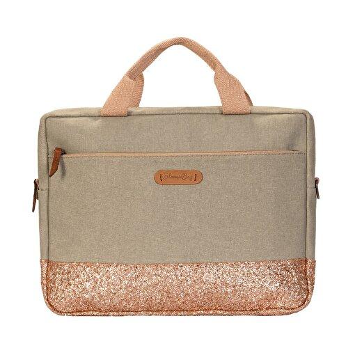 Bloominbag  Greenish Glitter 15.6 inç Macbook / Laptop Çantası. ürün görseli